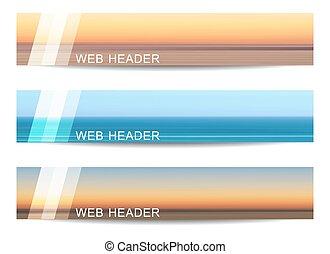 Set of web header or banner - Web header or banner with...