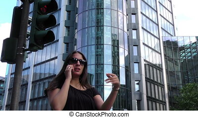 Woman Talking With Cellphone