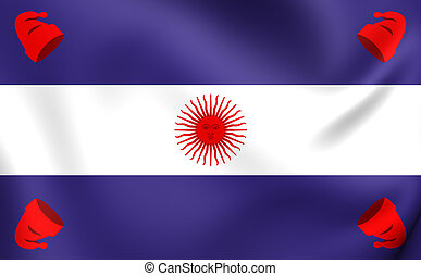 Flag of the Argentine Confederation - 3D Flag of the...