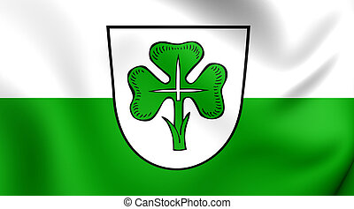 Flag of the Furth, Germany - 3D Flag of the Furth, Germany...