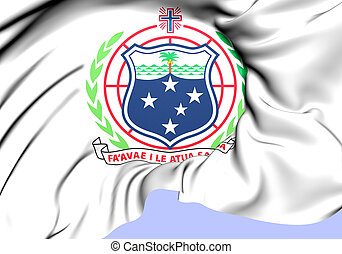 Independent State of Samoa Coat of Arms. Close Up.