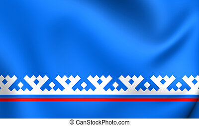 Flag of the Yamalo-Nenets Autonomous Okrug, Russia. - 3D...