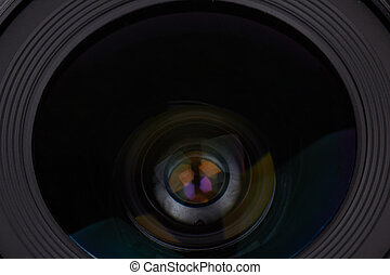 photographic lens - Closeup of a new photographic lens