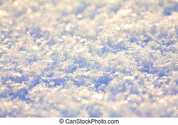 Snow texture close up - glitter sparkles on background