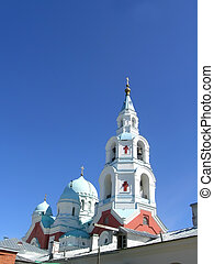 Valaam monastery with bellfry - The Valaam Monastery, or...