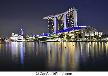 SINGAPORE - MAY 13: Marina Bay Sands, World's most expensive...