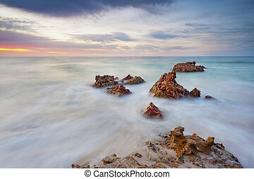 Rough Rocky Seascape