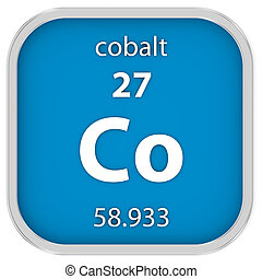 Cobalt material sign - Cobalt material on the periodic table...