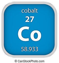cobalto, material, señal,