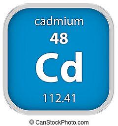 Cadmium material sign - Cadmium material on the periodic...