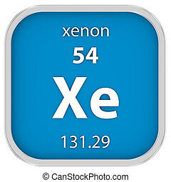 Xenon material sign - Xenon material on the periodic table....