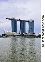 SINGAPORE-MAY 12 : Marina Bay Sands Resort Hotel on May 12,...