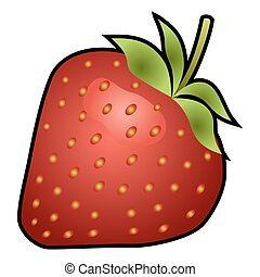 Strawberry fruit isolated on white