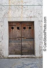 Wooden door Bovino Puglia Italy
