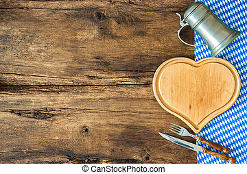 Bavarian cuisine - Background for Bavarian cuisine with a...