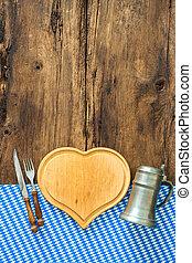 Bavarian cuisine - Background for Bavarian cuisine with a...
