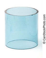 Glass blue cylinder