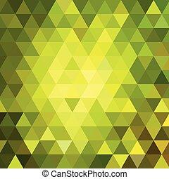 Extracto, geométrico, triángulo, Plano de...