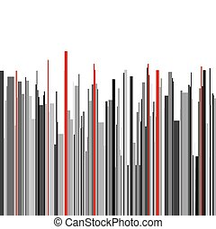Abstract vertical infographics gray, black and red stripes...