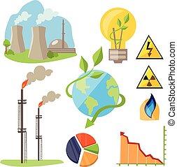 Eco Energy Design Concept Set - Eco energy design concept...