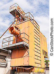 Old machinery for silos agicoli obsolete and abandoned