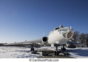 Old soviet strategic bomber Tu-16 in Poltava