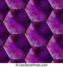 Seamless gemstone vector pattern with cubes and pyramids
