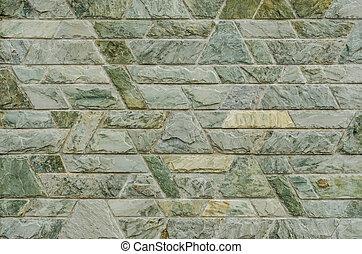 patrón, de, verde, pizarra, piedra, pared,...