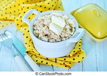 porridge - boiled porridge with butter in the bowl