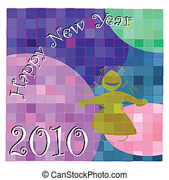 New Years Eve card illustration, background desing with...