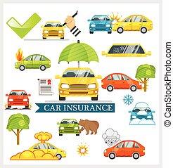 Car Insurance vector illustration