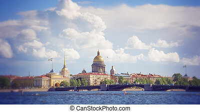 Admiralty and St. Isaac's Cathedral in St. Petersburg