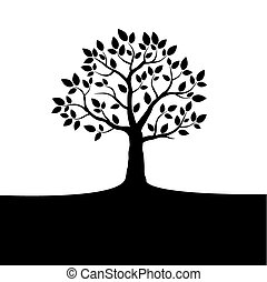 Vector tree on white background