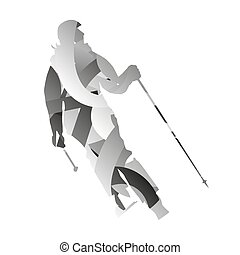 Abstract woman downhill skier