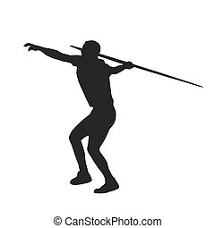 Javelin throwing Vector silhouette