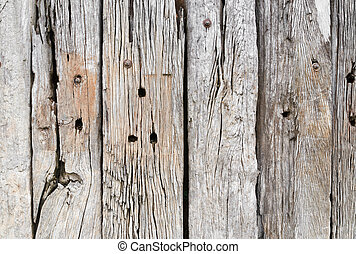 old wooden fence surface