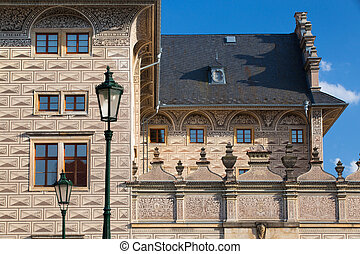The famous Schwarzenberg Palace near the Prague Castle - The...