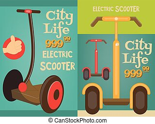 segway - Segway - Two Mini Posters - Advertising Electric...