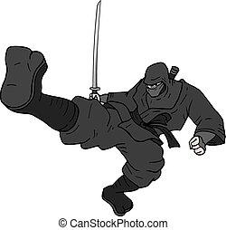kick ninja - Creative design of kick ninja