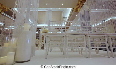 Wedding ceremony - The chairs in the hall of wedding...
