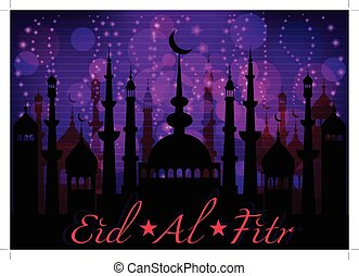 Card for congratulations with beginning of fasting month of...