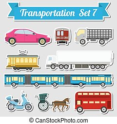 Set of all types of transport icon for creating your own...