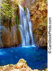 Canete waterfalls in Cuenca at Spain - Canete waterfalls...