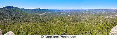 Cuenca Las Cabezas peak panoramic in Spain - Cuenca Las...