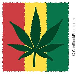 Cannabis Leaf Symbol - A colourful cannabis leaf symbol...