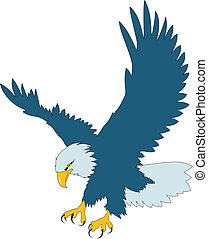 Eagle - Color vector illustration of flying eagle