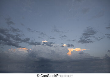 dramatic clouds as a background