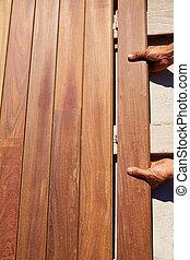 Ipe, Engalanando, cubierta, madera, instalación,...