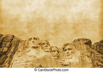 American Presidents Concept Vintage Background. United...