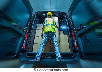 Cargo Van Loading - Large Heavy Duty Cargo Van Loading by...